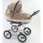 CARRYCOT RAINCOVER WITH ZIP FOR LARGER CARRYCOTS