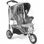 JOGGER 3 WHEELER PUSHCHAIR RAINCOVER UNIVERSAL FIT WITH ZIP