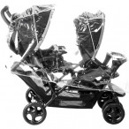 TANDEM PUSHCHAIR RAINCOVER UNIVERSAL FIT
