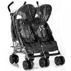 TWIN SIDE BY SIDE PUSHCHAIR RAINCOVER UNIVERSAL FIT